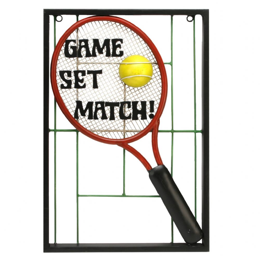 Tennis  Metal Wall Art ~ Game Set Match